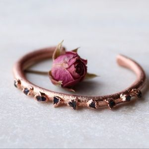 Jewelry - Handcrafted Copper Raw Amethyst Bracelet